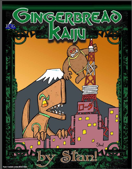 Third Party People Stan On Gingerbread Kaiju Rogue Genius Games Know Direction They are related to a less common creature called a kaenju, native to the plane of fire, which is suffused with fire rather than electricity. know direction