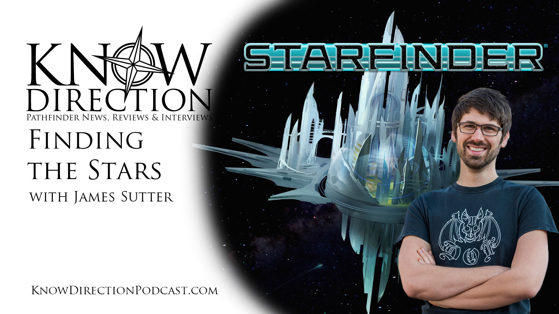 Finding the stars with James Sutter - Picture of sutter in front of space station Absolom,