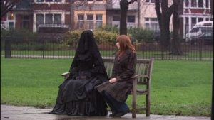 Miss Evangeline and Donna Noble. Doctor Who, Silence in the Library/Forest of the Dead. BBC, 2008.