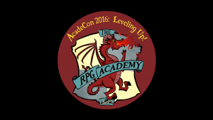 AcadeCon 2016 Logo. The RPG Academy.
