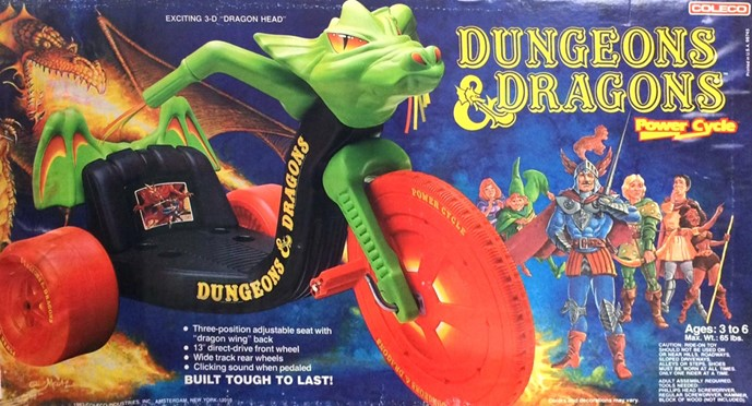 a 1980s Dungeons and Dragons Power Cycle.