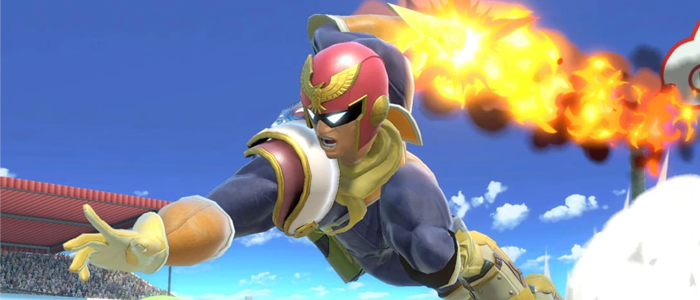 Captain Falcon travels forward with his Raptor Boost.